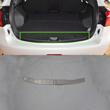 цена на Car Accessoris Stainless Steel inner rear bumper foot plate cover 1pcs Car Styling accessories For Mitsubishi 2013 ASX