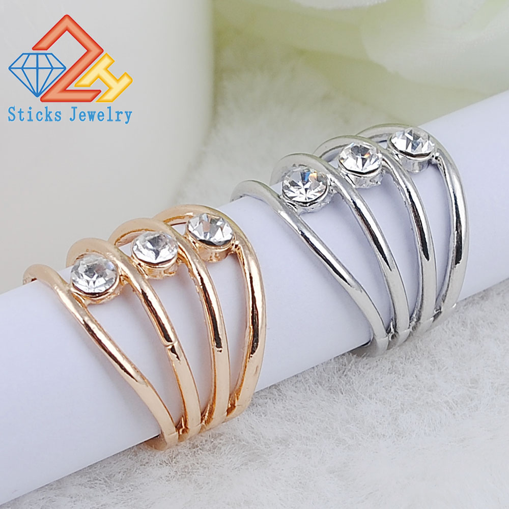 White Austrian Crystal Angel Wing Engagement Rings  Fashion Jewelry