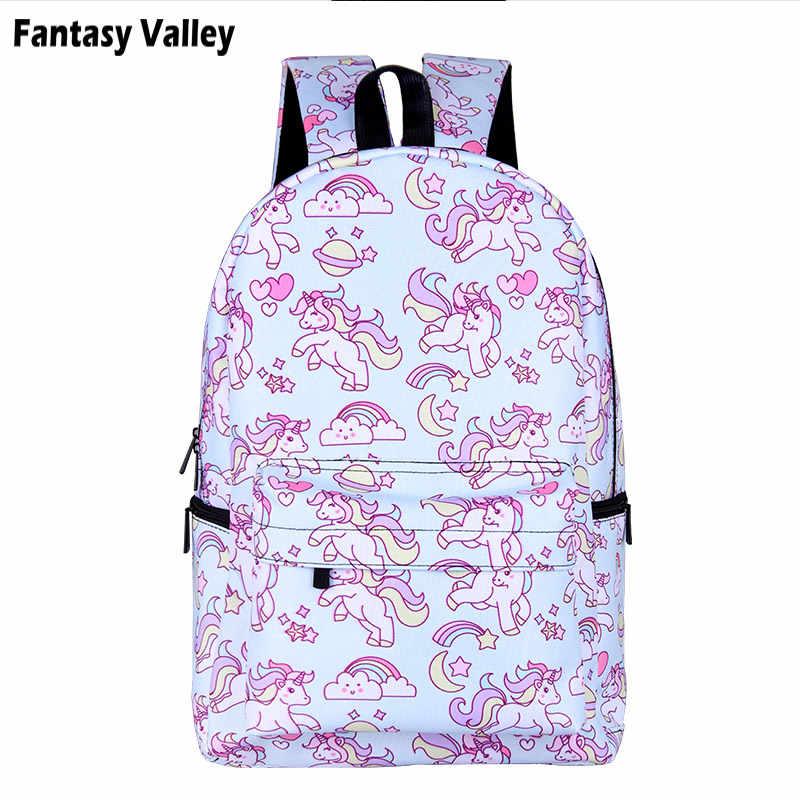 Розовый рюкзак с единорогом для девочек-подростков, детские школьные сумки, маленький пони, женский рюкзак для ноутбука, Детская сумка для книг, рюкзаки, подарок