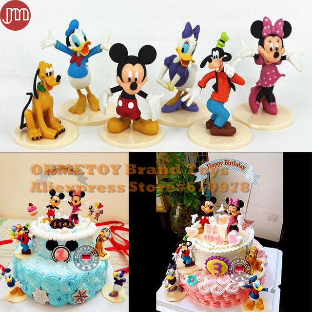 New 6pcs Mickey Mouse Clubhouse Minnie Goofy Figures Playsets Toys ...