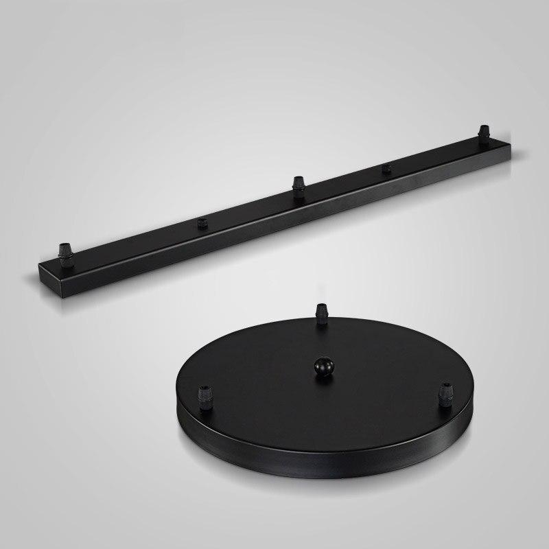 цена на Light Ceiling Plate Base Round Plate black/white Round Rectangular Lamp Holder Socket Lamp Bases Chandelier Canopy Plate