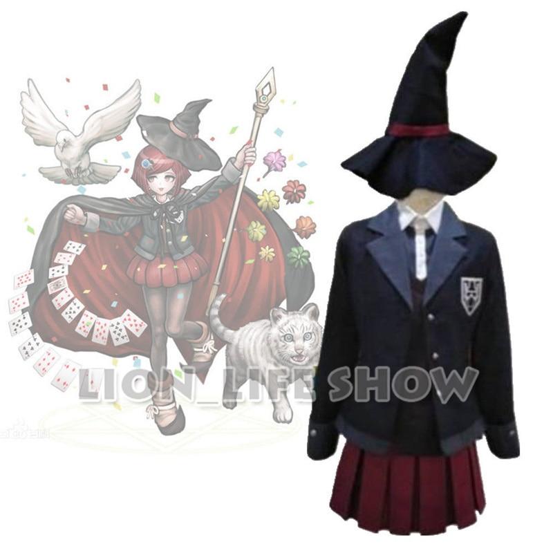 Danganronpa V3 Tuer Harmonie Yumeno Himiko Magicien Uniforme Cosplay Costume cape + chapeau + top + jupe