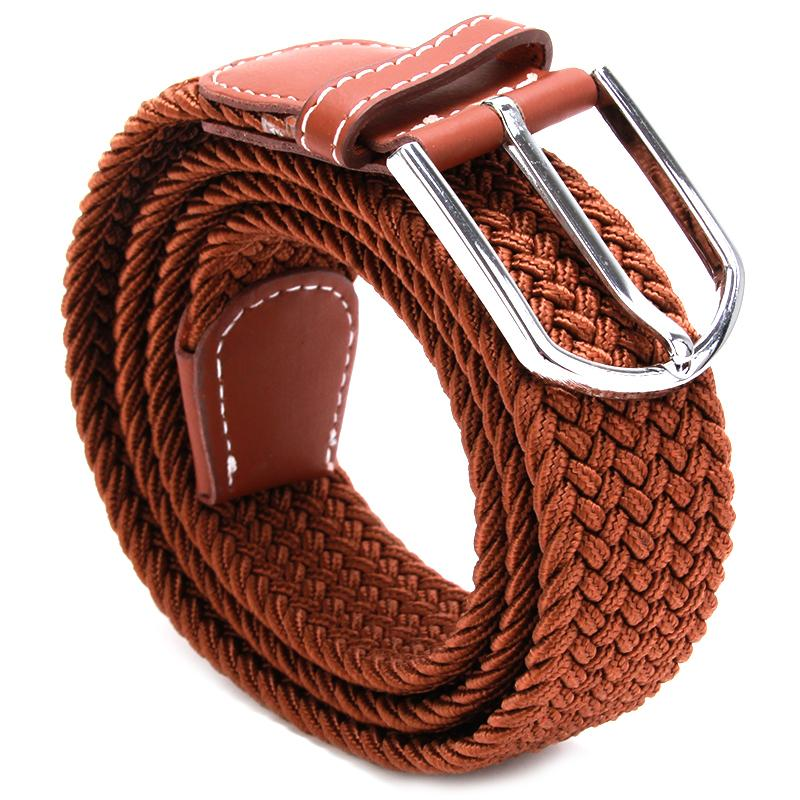 Bigsweety High Quality Men Elastic Knitted   Belt   Metal Buckle Waist Strap New Fashion Military Army Tactical   Belt   6 Colors