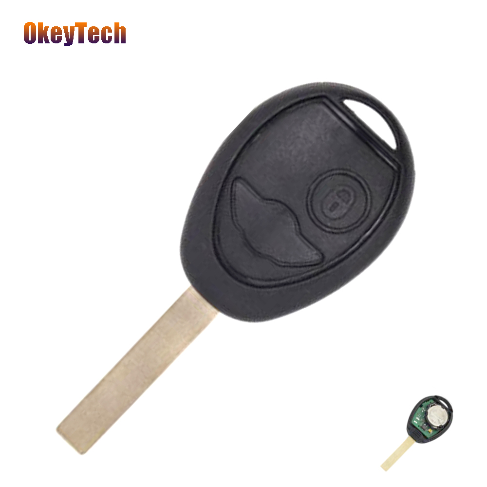 OkeyTech 2 Buttons 433Mhz Remote Control Auto Car Key Uncut Blade No Logo Old Style For BMW Mini Cooper Remote Key Free Shipping топливоснабжение no logo 7 10an auto