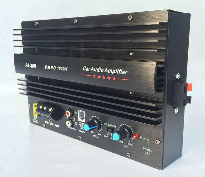 1000 Вт большой усилитель мощности автомобильный доска 12 в 10 дюймов 15 дюймов, сабвуфер PA80D C5198 + A1941 транзистор; модель с защитой
