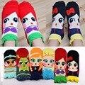 Mujeres de la muchacha Regalo Kawaii algodón sirena princesa Anna Elsa imprimir lindo Calcetines mujeres de la muchacha de la historieta meias Calcetines para las muchachas encantadoras estilo