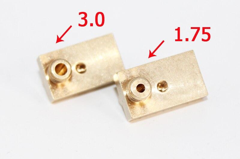 3 шт. Новый 3D принтер аксессуар Ultimaker 2 UM2 медь сопло + heaterblock 0.2/0.3/0.4/0.5 мм Насадка для 1.75/3 мм нити