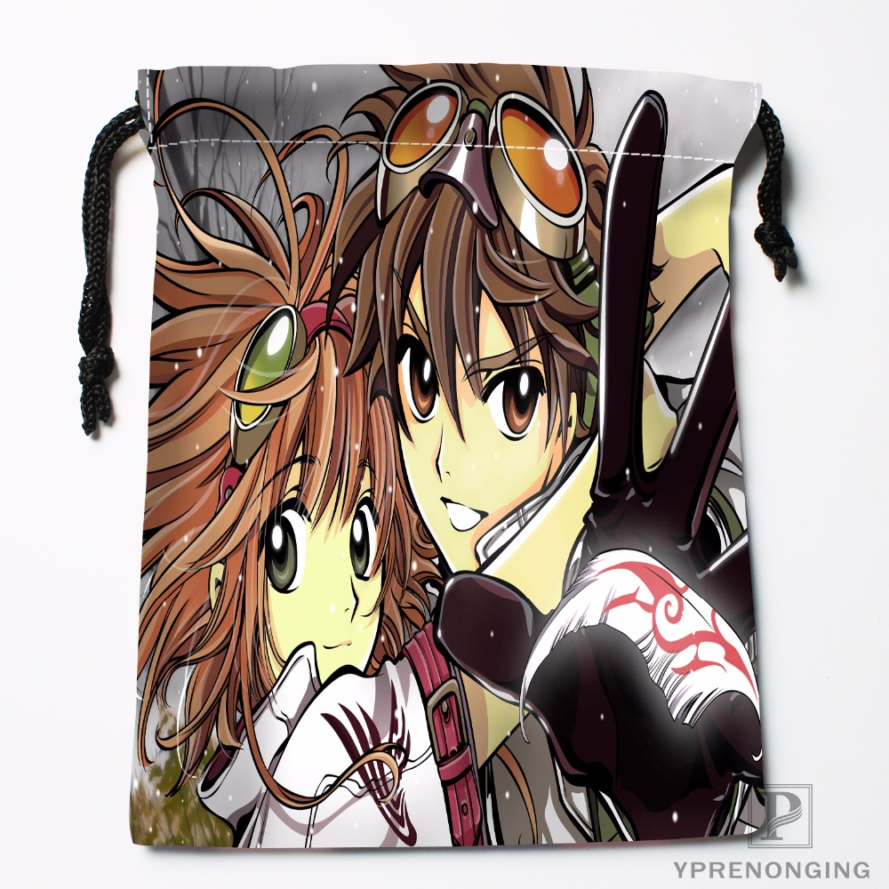 Custom Tsubasa Reservoir Chronicle Drawstring Bags Travel Storage Mini Pouch Swim Hiking Toy Bag Size 18x22cm#0412-11-105