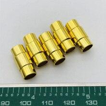 цена 5pcs/lot Rose Gold Round Copper Magnetic Clasps Fit 6mm 8mm 10mm Leather Cord Bracelets for Bracelet Jewelry Making Findings онлайн в 2017 году
