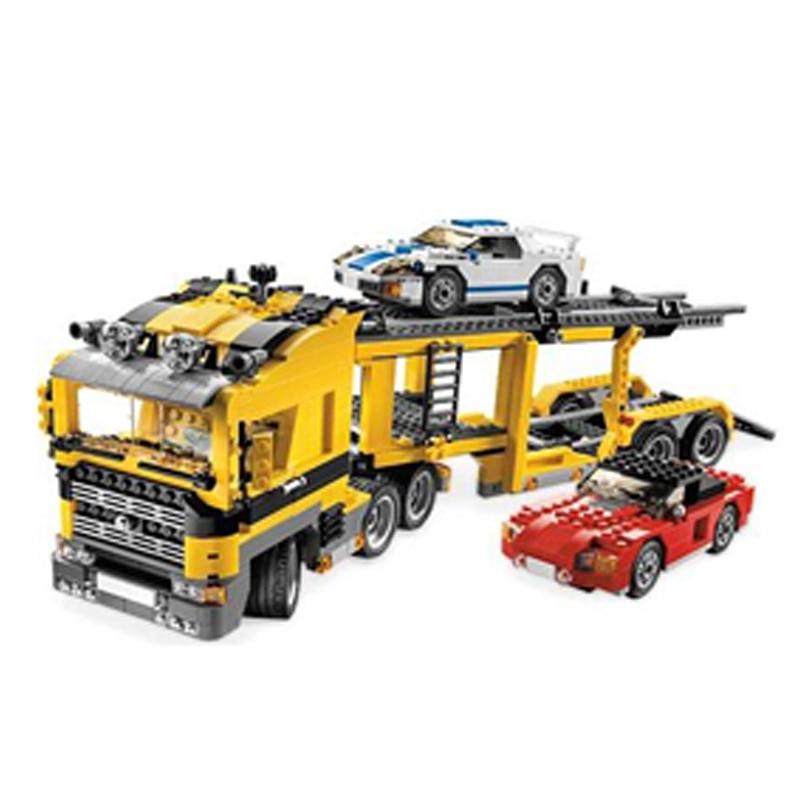 Lepin 24011 673pcs Technic series Three in One Highway Transport Building Blocks set Bricks Toys For  Children 6753 Gift 8 in 1 military ship building blocks toys for boys
