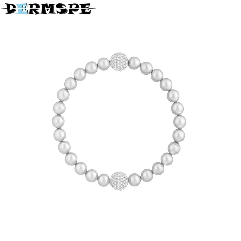 купить DERMSPE REMIX-COLLECTION-Elegant Pearlescent Invisible Magnetic Buckle Bracelet Women's Handwear Boy Send Girl Valentine Gift недорого