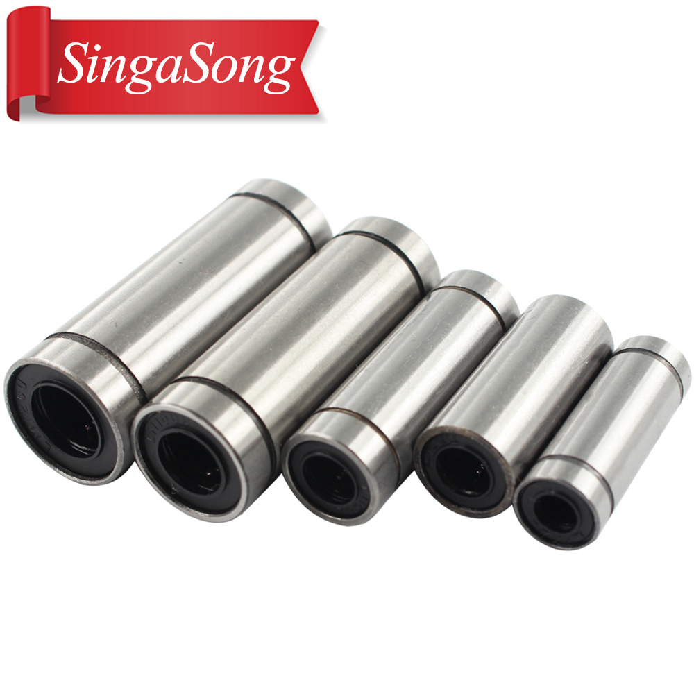 free shipping 10 pcs/lot LM8LUU 8mm Longer Linear Ball Bearing Bushing Linear Bearings CNC parts 3d printer parts LM8L free shipping lm60uu 60mm linear bushing cnc linear bearings