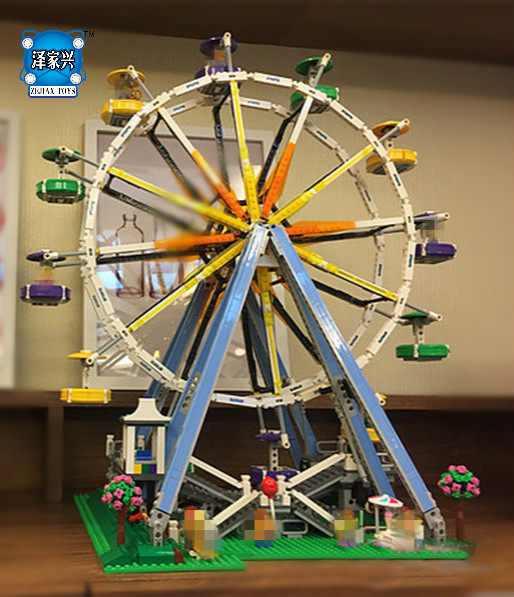 Hot Sale Model DIY 3D Ferris Wheel Truck Building Bricks Blocks Toy Boy Game Model Gift Compatible with Lepins Figures Toys yks colorful balls perpetual motion revolving ferris wheel desk decor kids toy chriamas gift new sale