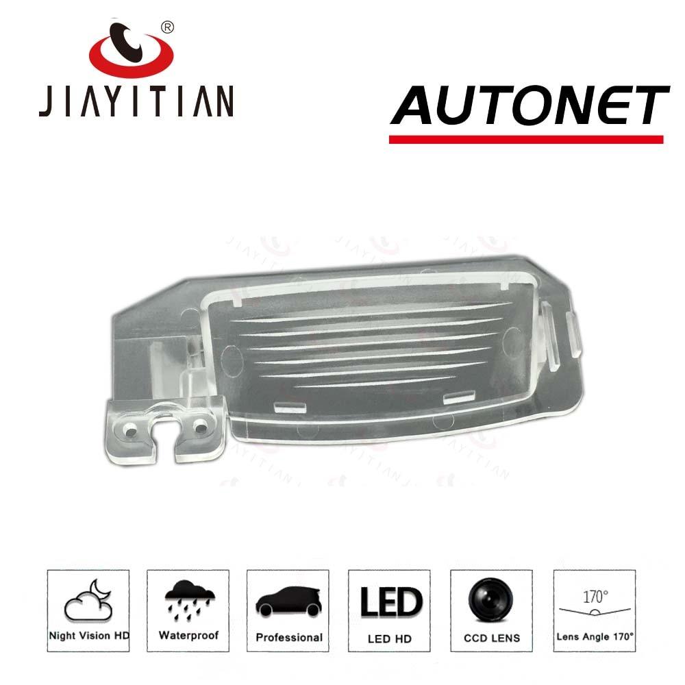 JIAYITIAN DIY Rear View Camera Backup Bracket License Plate Lights Housing Mount For Mitsubishi Outlander II III IV 2006~2019