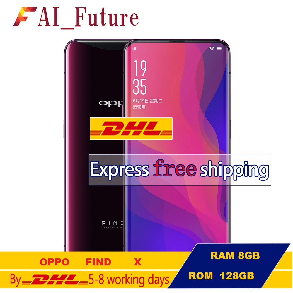 OPPO Find X FindX RAM 8GB ROM 128GB Mobile Phone Snapdragon 845 Octa Core 6.42'' Full Screen Stealth 3D Face Recognition