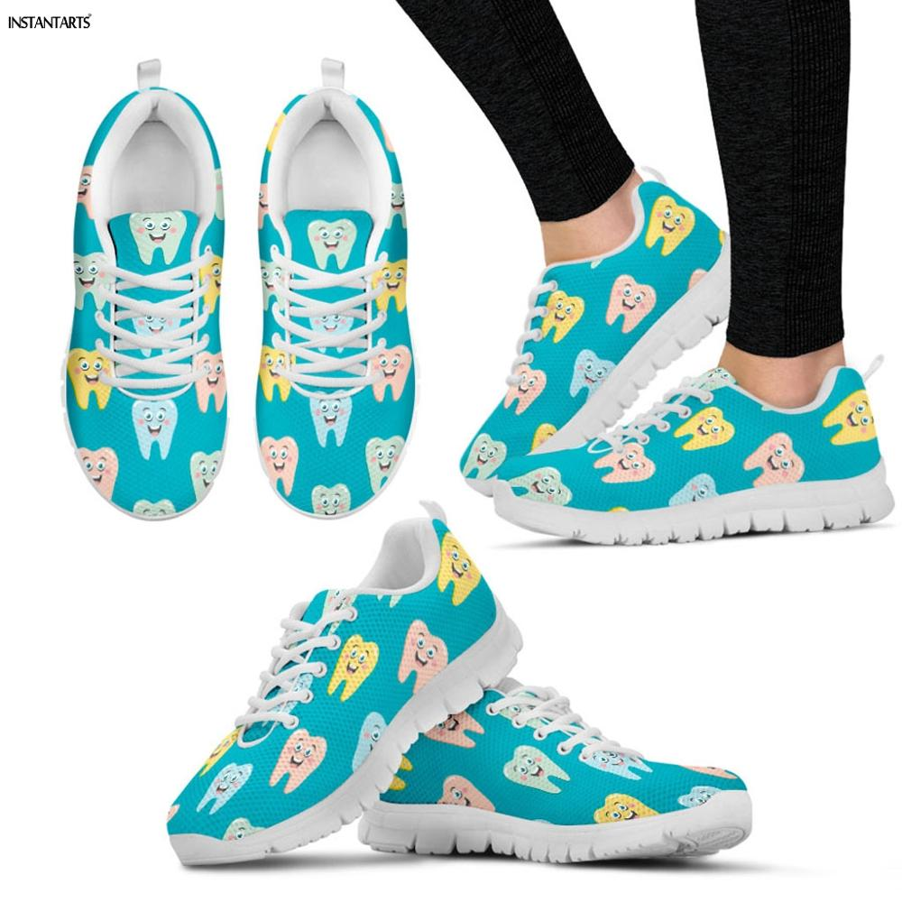 INSTANTARTS Colorful Tooth/Dental/Dentist/Dentistry Print Womens Sports Shoes Breath Athletic Sneakers Ladies Light SneakersINSTANTARTS Colorful Tooth/Dental/Dentist/Dentistry Print Womens Sports Shoes Breath Athletic Sneakers Ladies Light Sneakers