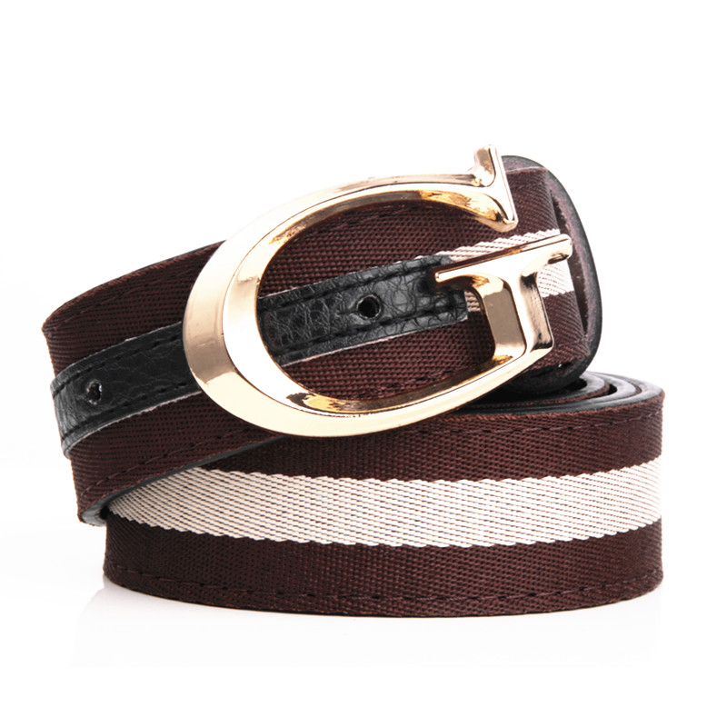 443aa9515fd 2017 Gg Belt Leisure Belts Student Outdoor Sports high quality WOmen canvas  belts striped military-in Men s Belts from Apparel Accessories on  Aliexpress.com ...