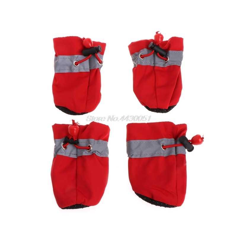 Acessórios Do Cão de Estimação Do Cão À Prova D' Água Sapatos Sapatos de Chuva Botas de Neve quente À Prova D' Água De Borracha Anti-slip Sapatos para Cão Pequeno Filhote de Cachorro