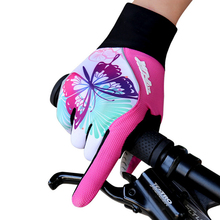 BATFOX Bicycle Full Finger Gloves Women Winter Sport Mittens Breathable Cycling Hot MTB Road Bike Pink
