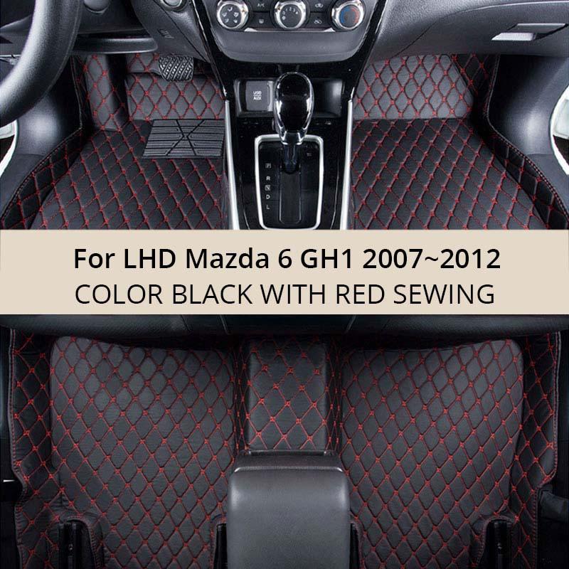 Aliexpress Com Buy For Lhd Mazda 6 Gh1 2012 2011 2010 2009 2008 2007 Car Floor Mats Custom