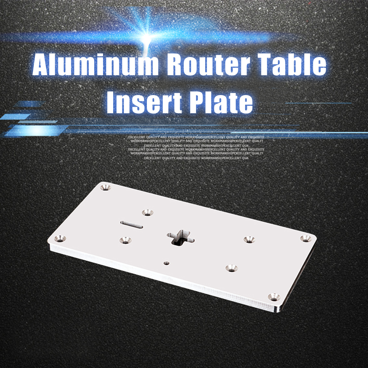 Aluminum Router Table Insert Plate with Fixing Screws For Jig Saw Woodworking Benches ...