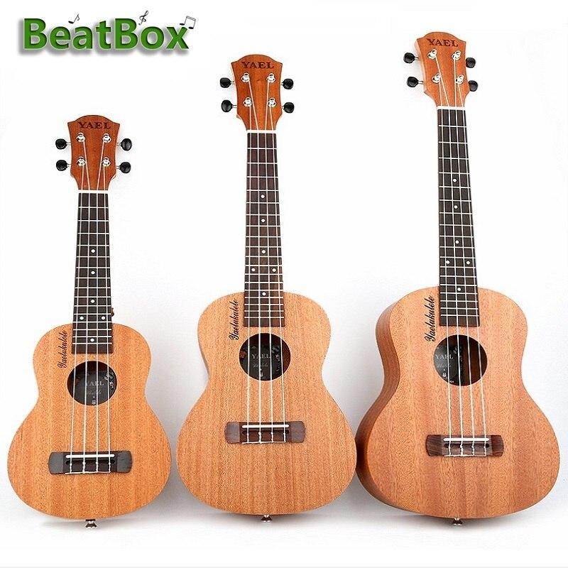 BeatBox acajou Soprano ukulélé guitare Sapele palissandre 4 cordes guitare Instruments de musique
