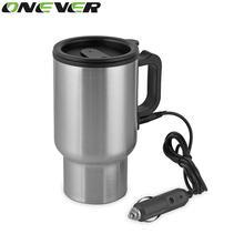 Onever, 450 мл, Автомобильный Электрический чайник с регулируемой температурой для кипячения автомобиля, 12 В, автомобильная зажигалка, подогревающая чашку