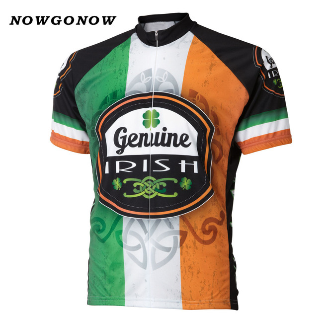862d25620 NOWGONOW Retro Cycling Jersey men Ireland green orange pro team Clothing  Bike Wear MTB road tops Maillot summer ven Polyester