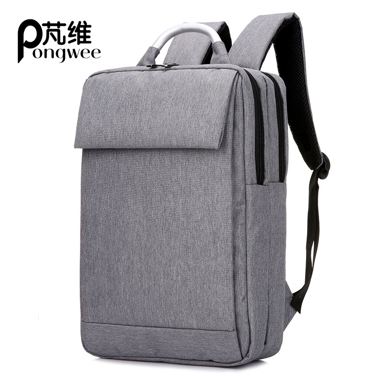 PONGWEE Nylon Gray Backpack Waterproof Men's Back Pack 15.6 Inch Laptop Mochila High Quality Designer Backpacks Male Escolar sinpaid 3 size backpack waterproof men s back pack 15 6 inch laptop mochila high quality designer backpacks male escolar ff