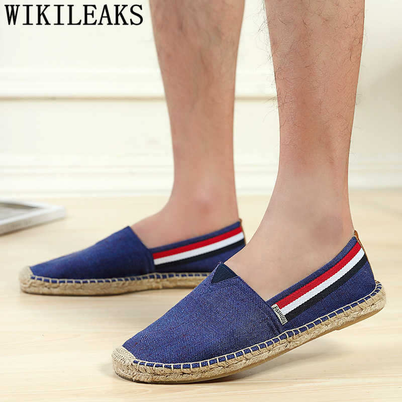 espadrilles men unisex shoes brand canvas shoes men canvas breathable shoes loafers men sepatu slip on pria tenis masculino buty