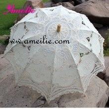 Хлопок пряжа ручной работы кружева Свадебный зонтик