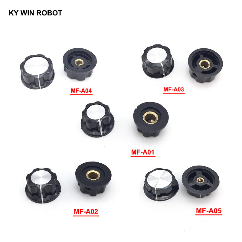 1pcs Hat MF-A01 MF-A02 MF-A03 MF-A04 MF-A05 potentiometer knob WH118/WX050 bakelite copper core inner hole 6mm