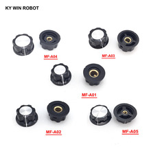 1pcs Hat MF-A01 MF-A02 MF-A03 MF-A04 MF-A05 potentiometer knob WH118/WX050 bakelite copper core inner hole 6mm
