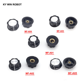 1pcs Hat MF-A01 MF-A02 MF-A03 MF-A04 MF-A05 potentiometer knob WH118/WX050 bakelite knob copper core inner hole 6mm mf 426