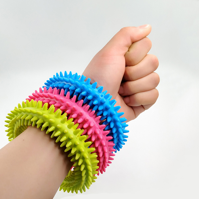 New Spiky Sensory Tactile Ring Children Autism Therapy Massage Bracelet Fidget Adult Sensory Toys Reduce Stress Children Gifts