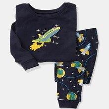 H kong baby font b kids b font Pajamas Sets Girls cartoon sleepwear Boys cotton Long