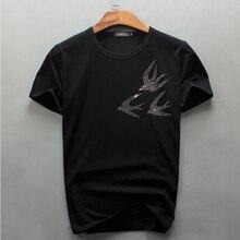 Tops Tees 2017 new Luxury Brand Summer Men Diamonds T Shirt Slim Fitness Man Tshirt Camiseta
