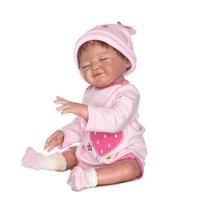 20inch smiling Silicone Reborn Baby Dolls Alive Baby Fashion Dolls Toys For Girls Birthday Christmas Gifts Brinquedos for sale20inch smiling Silicone Reborn Baby Dolls Alive Baby Fashion Dolls Toys For Girls Birthday Christmas Gifts Brinquedos for sale
