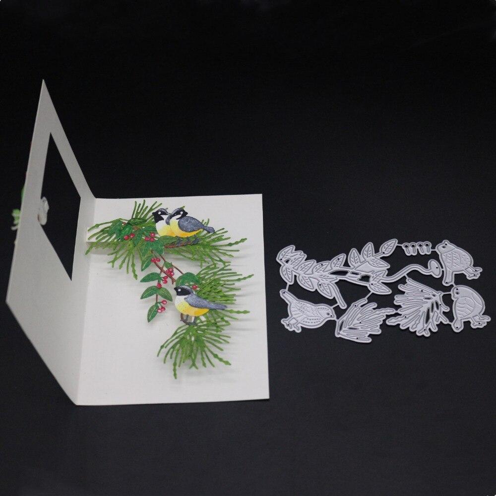 Robin Pájaro Metal Corte muere plantillas de papel Scrapbooking Tarjeta Artesanía Fo