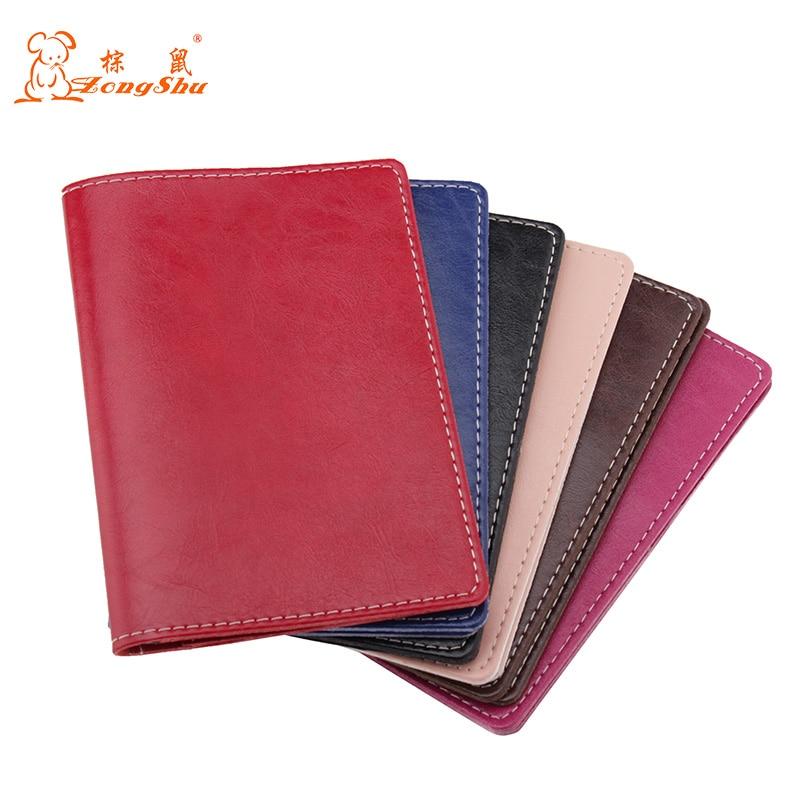 Oil Wax Genuine Leather Passport Cover Travel Passport Holder Bag Passport Case Wallet License Credit Card Holder (custom Accept