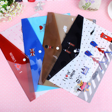 5 pcs/lot A4 size plastic Waterproof Document pocket bill pouch file Pen Filing Products Pocket Folder Office & School Supplies