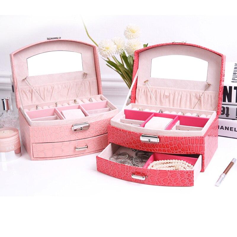 Модные коробки для хранения ювелирных изделий принцесса Европейский Корейский Деревянный замок коллекция ювелирных изделий кольца коробк