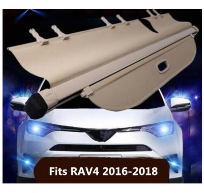 car accessories High Qualit Car Rear Trunk Cargo Cover Security Shield Screen shade Fit For Toyota RAV4 <font><b>RAV</b></font> <font><b>4</b></font> 2016 2017 <font><b>2018</b></font> image