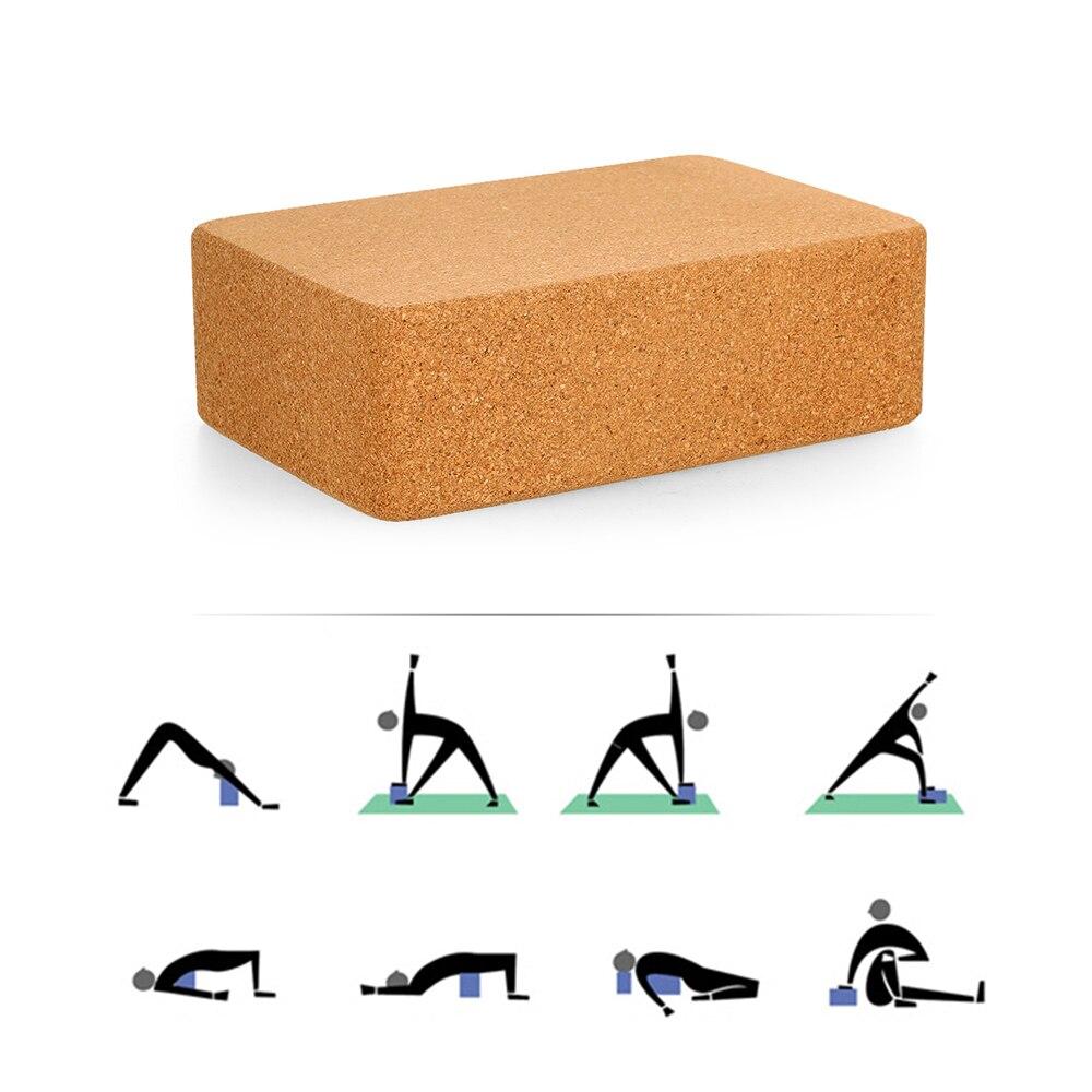 ✔  Натуральные пробковые блоки для йоги Йога Фитнес-блоки Плотность Пилатес Спортивные упражнения Трена ★
