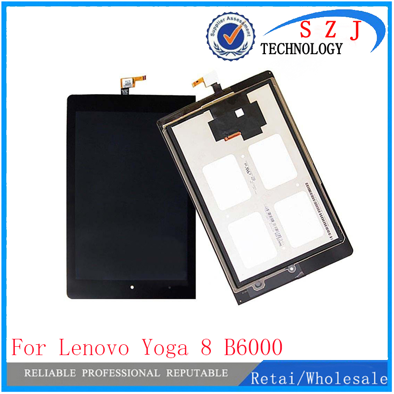 New 8'' inch for Lenovo Yoga 8 B6000 Digitizer Touch Screen Glass Sensor + LCD Display Panel Monitor Tablet PC protection case top quality brazilian virgin human straight hair 4x4 lace closure 3 way part bleached knots free middle three part free shipping