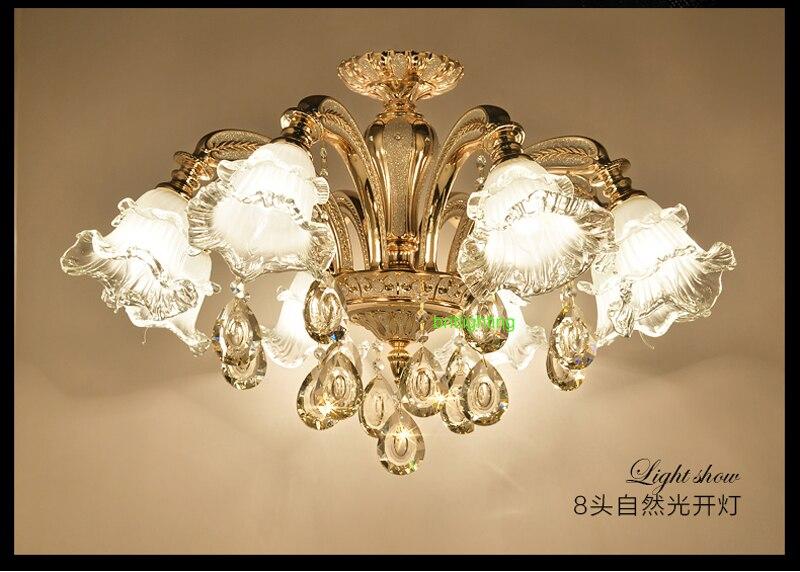 Moderno lampadari di cristallo di illuminazione led oro lampadario