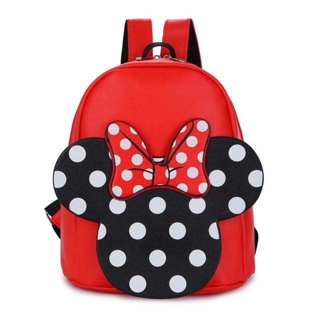 4d8806d11e66 Bow PU Backpack Kids Bags Cute Cartoon Character Printing Baby Children  Backpacks Kindergarten School Backpacks for Boys Girls