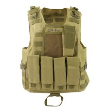 Фотография OUTAD Amphibious Tactical Military Hunting Combat Assault Plate Carrier Adjustable Vest Top Outdoor Jungle Equipment