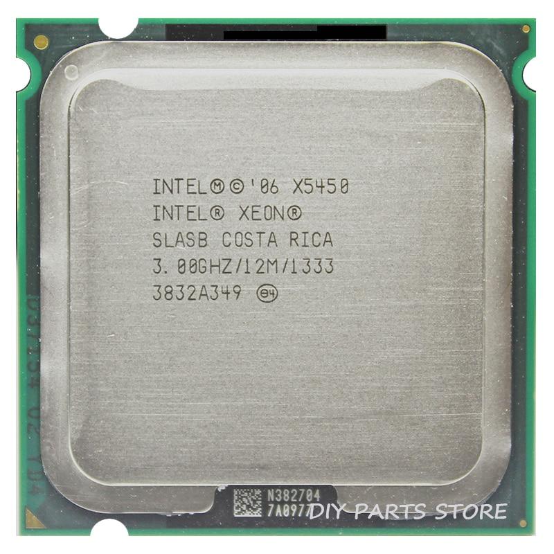 INTEL XONE X5450 INTEL X5450 775 quad core 4 core 3.0MHZ LeveL2 12M travail sur la carte mère LGA 775