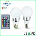 E27 Lâmpada LED RGB Lâmpada AC110V 220 V 5 W E14 Spot Light pode ser escurecido RGB Iluminação Do Feriado Magia Controle Remoto IR 16 Cores 270 grau